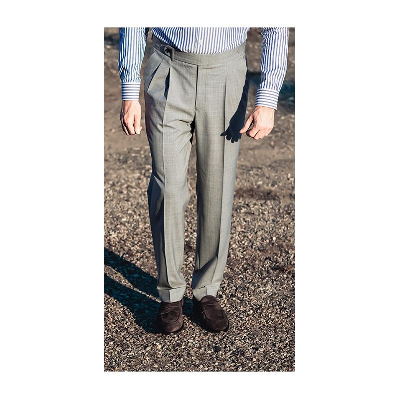 Spodnie flanelowe 100% Wool Brązowe - 203