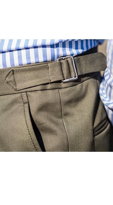 Spodnie flanelowe 100% Wool Jasno Szare