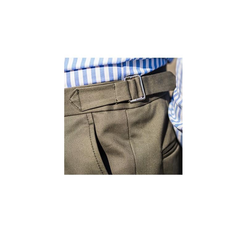 Spodnie flanelowe 100% Wool Jasno Szare - 204