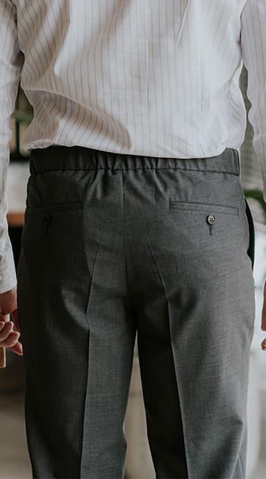 Spodnie Garniturowe 120s VBC Wool Dove Grey