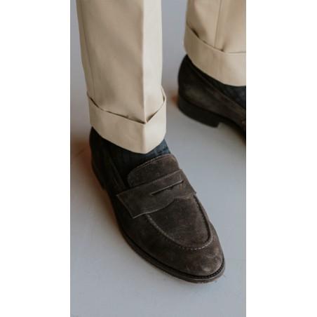 Spodnie Garniturowe 120s VBC Wool Light Grey Check