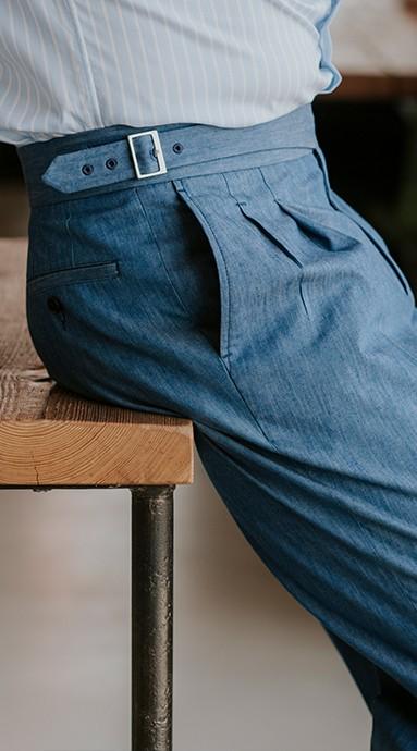 Spodnie flanelowe 100% Wool Szare