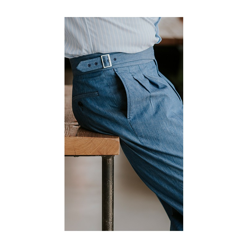 Spodnie flanelowe 100% Wool Szare - 201