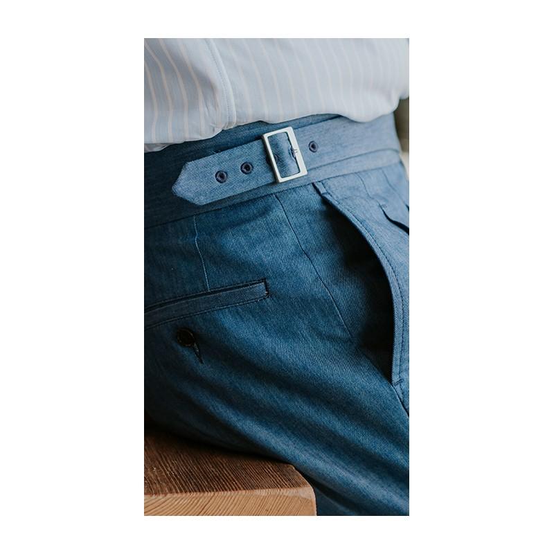 Spodnie 100% Wool 120s Flanela w pepitke - 181