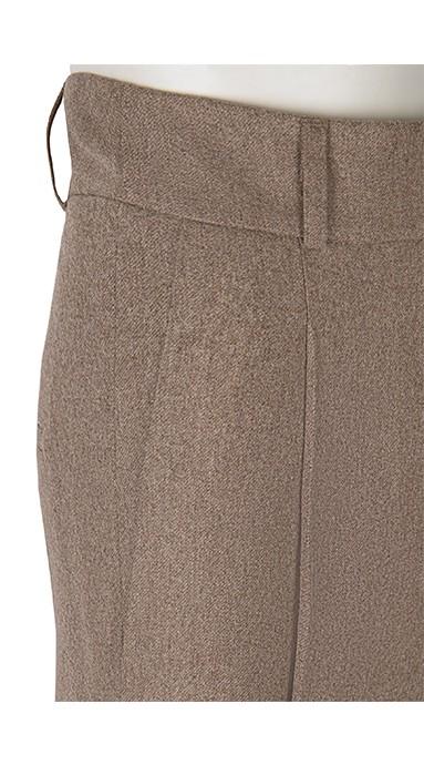 Spodnie flanelowe 100% Wool Butelkowa zieleń