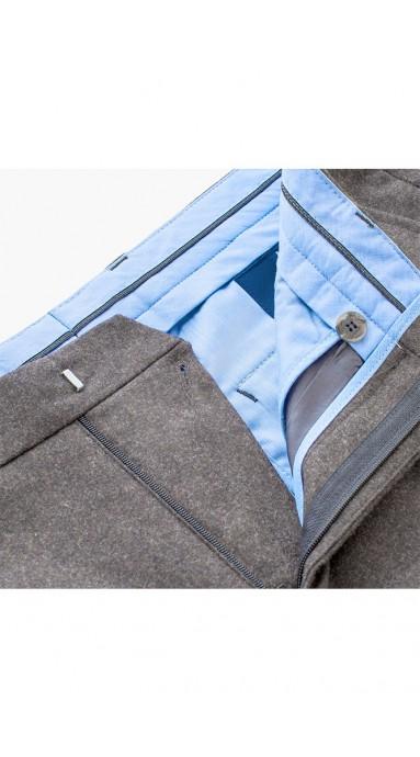 Super modne casualowe spodnie męskei chinosy Slap-Up Maroon w odcienach brązu
