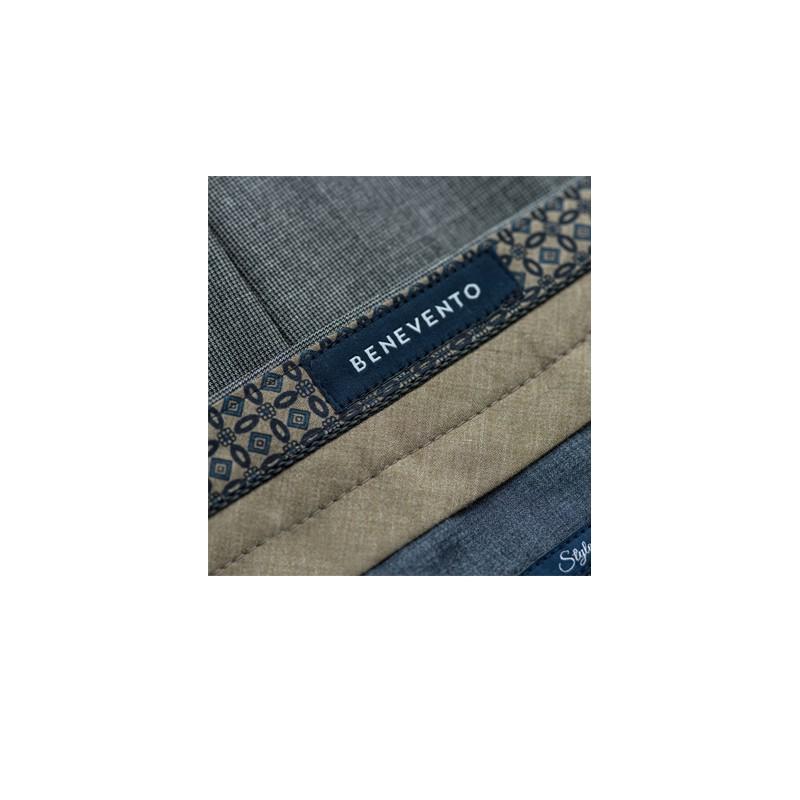 Spodnie flanelowe 100% 120s Wool Light Grey Check - 172