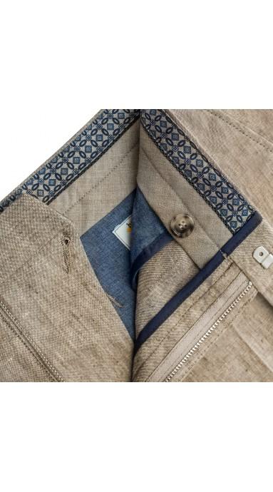Spodnie męskie X-Press Chinosy Maroon w niespotykanym odcieniu czerwieni