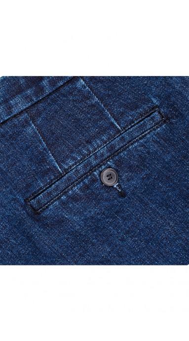 Spodnie 100% Wool 120s Szara Krata
