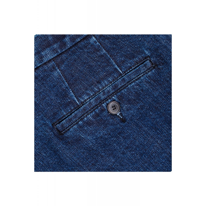 Spodnie 100% Wool 120s Szara Krata - 181