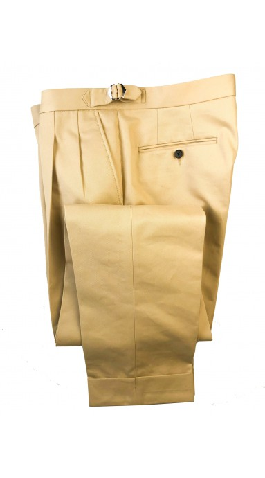 Spodnie 100% Wool 120s Flanela w pepitke