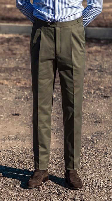 Spodnie Chinos Oliwka...
