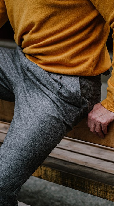 Spodnie flanelowe Sartorial...