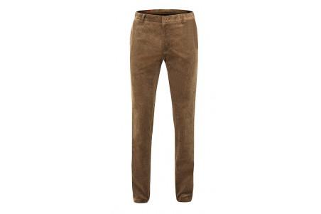 spodnie sztruksowe brązowe na guziki