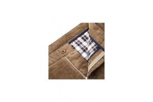 spodnie sztruksowe brązowe slim