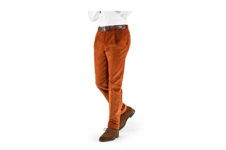 spodnie męskie sztruksowe koloru cynamon