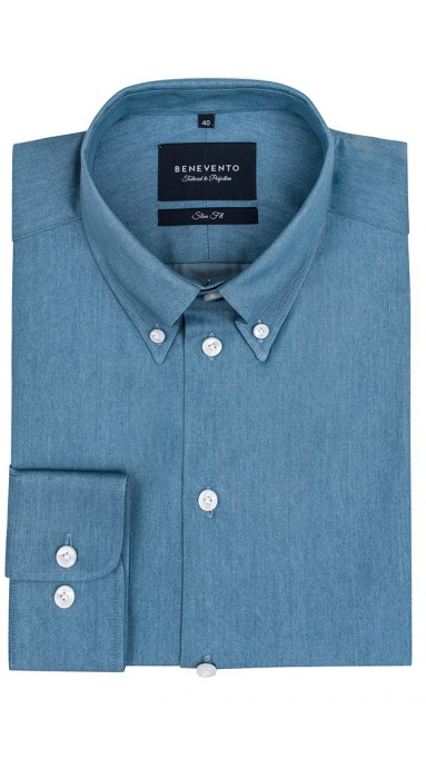 Koszula Jeansowa Button...