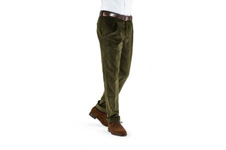 Spodnie męskie sztruksowe zielone
