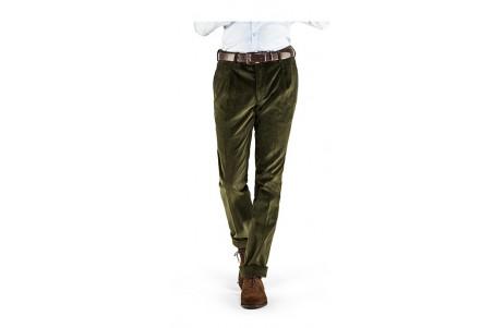 Wysokiej jakości spodnie sztruksowe zielone