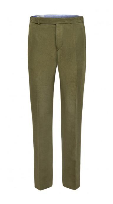 Spodnie Lniane - Moss