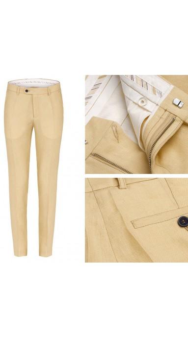 Spodnie Lniane - Lemon