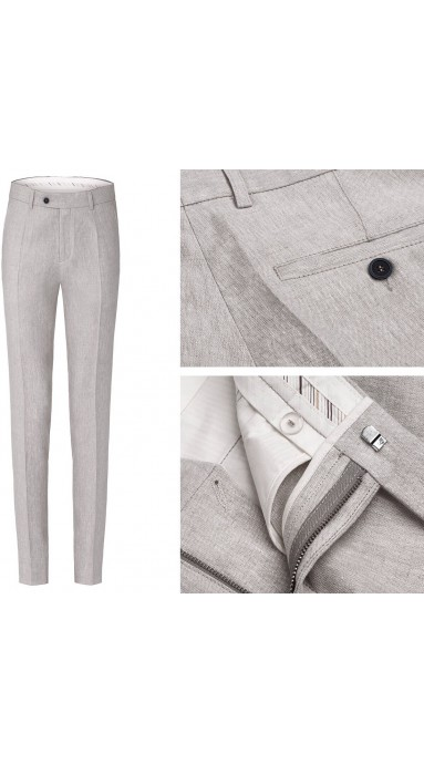 Spodnie Lniane - Natural