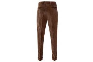 spodnie sztruksowe brązowe krój klasyczny
