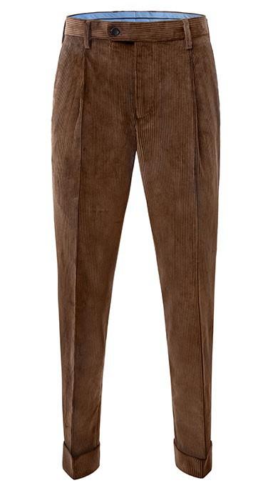 spodnie sztruksowe brązowe