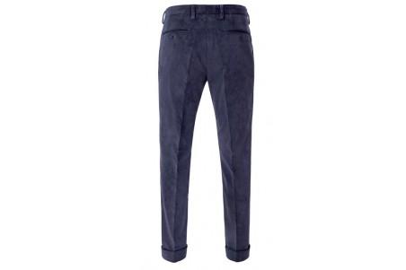 granatowe spodnie sztruksowe z zakładką