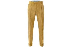 spodnie męskie sztruksowe musztardowe