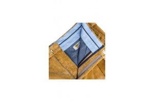 eleganckie spodnie sztruksowe musztardowe