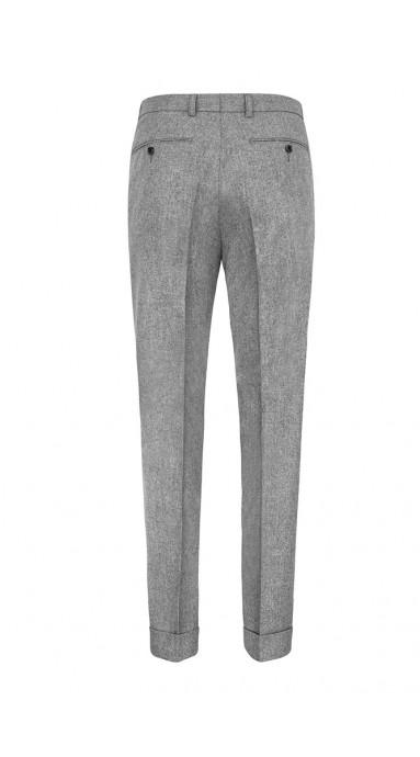 Spodnie flanelowe - Szare