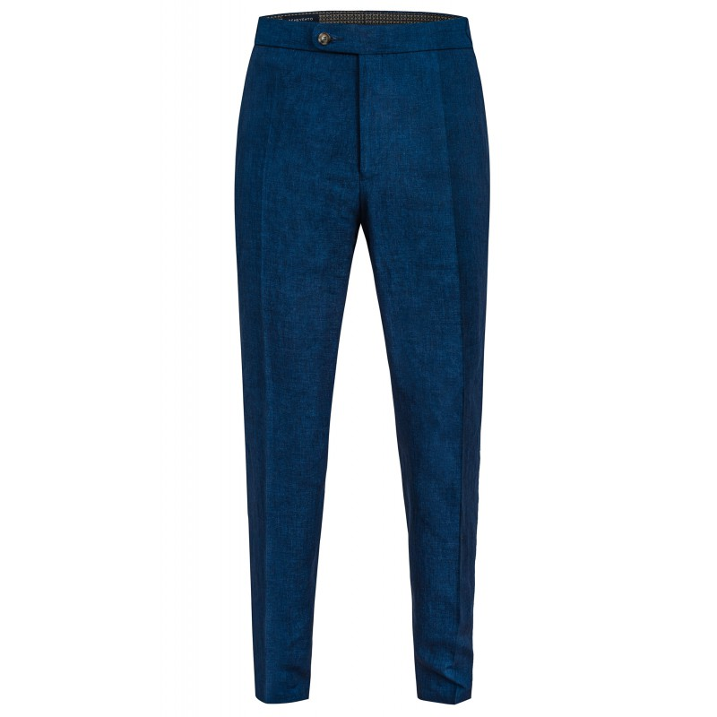 Spodnie Męskie Lniane Dark Blue