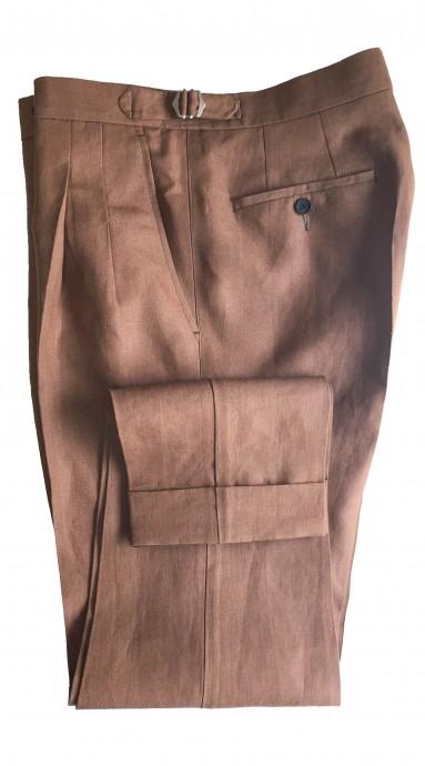 Spodnie lniane Koniakowe