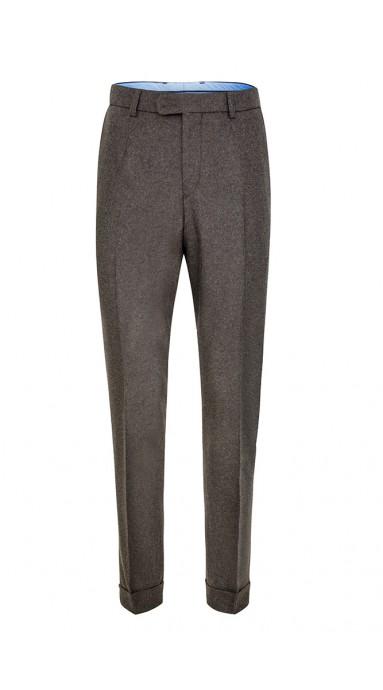 Spodnie flanelowe -  Brązowe
