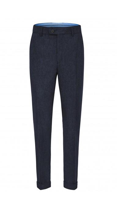 Spodnie flanelowe -  Granatowe