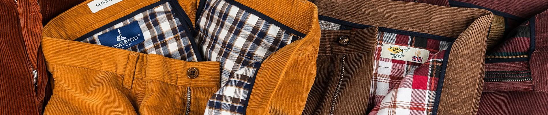 Spodnie sztruksowe | Benevento.pl